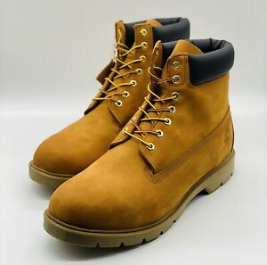 """NEW Timberland 6"""" Waterproof Padded Collar Suede WHEAT Work Boots 018084 Size 14"""
