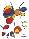 ALEXANDER CALDER Spirales 15 x 11.5 Lithograph 1974 Surrealism Multicolor