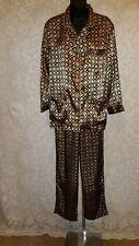 Victoria's Secret Satin Floral Art to Wear Sleepwear Pajama Set Sz S #3837