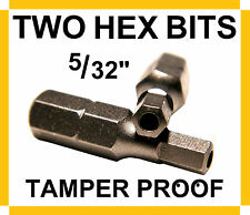 "SECURITY DRIVER BITS (TWO) 5/32"" TAMPERPROOF HEX - TELEPHONE, CABLE, SECURITY"