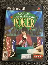 WORLD CHAMPIONSHIP POKER - PS2 - COMPLETE W/MANUAL - FREE S/H - (Y)