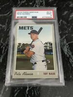 Pete Alonso 2019 Topps heritage baseball #519 New York Mets RC rookie PSA 9