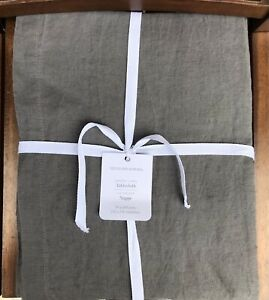 """William Sonoma Italian Washed Linen Tablecloth, Size 70"""" X 108"""", New W/ $149.95"""