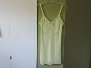NEW INTIMISSIMI YELLOW MESH SHEER SIZE XS LINGERIE