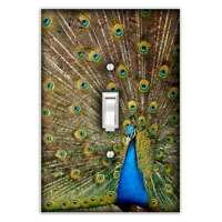 Peacock Single Toggle Light Switch Cover - Decorative Switch Plate Cover