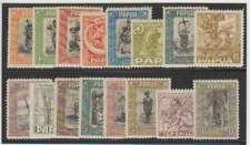 A9806: Papua New Guinea #94-109 NH/LH; CV $640