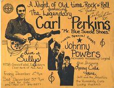 CARL PERKINS SUN RECORDS ORIGINAL handbill 8.5x11 VINTAGE  Rockabilly JOHNNY