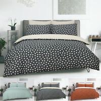 Polka Dot Duvet Quilt Cover & Pillowcases Set Reversible Printed Polycotton New