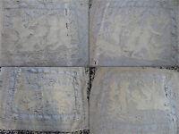4 taies dentellle burano venise XIXè les 4 saisons puttis  colombe vigne angelot