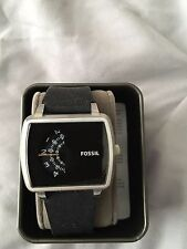 Fossil JR1286 THE METER Black Silicone-Strap Watch