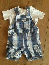 Baby Boy Blue Dungarees Romper Style Age 6-9 Months