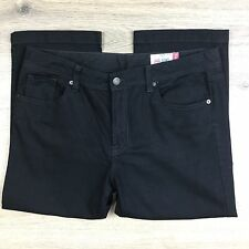 Jag Jeans High Rise Reg Fit Crop Black Women's Jeans Size 16 W34 L21.5 (Z7)