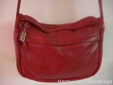 Vintage PALIZZIO Small/Medium RED Leather Cross-Body Handbag Satchel Purse, BoHo