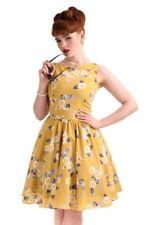 lady vintage Tea Dress - Yellow Floral size 18