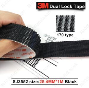 3M™ Dual Lock™ 1m 2m or 3m SJ3552 Self Stick Tape Black Heavy Duty 25.4mm Wide