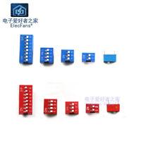 (5pcs)Red/blue 1P/2/3/4/8 bit Slide Type Switch Module 2.54mm Position Way DIP