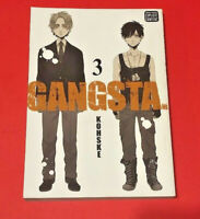 Gangsta Vol. 3 Manga by Kohske 1st Printing OOP Anime Manga Mature