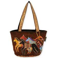 Native Horses Laurel Burch Medium Canvas Tote Bag