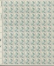 Full Sheet of 100 Rabbi Bernard Revel $1 US Stamps #2193 Brookman Price $340