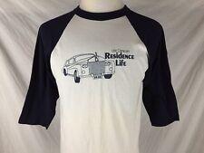 University Wisconsin Oshkosh Adult Large Baseball Style Shirt Residence Vtg 80s