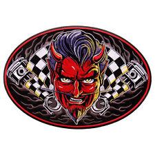 SPEED DEMON Patch Aufnäher Aufbügler groß Biker Backpatch Harley Hot Rod Racing