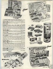 1962 PAPER AD Kenner Toy Girder & Panel Motorized Building Set Hydro Dynamic