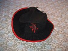 HOUSTON ROCKETS Bucket Cap Adidas Hat NBA BLACK/RED S/M NEW