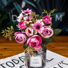 1 Bunch Rustic Retro Tea Rose Wedding Home Decor Flower Artificial Flowers Fake