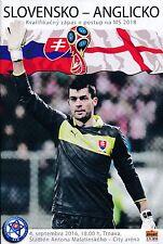 SLOVAKIA v England (World Cup Qualifier) 2016