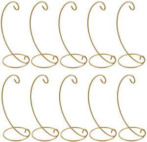 Pack Of 10 Ornament Display Stand Holder Iron Hanging Rack For Hanger