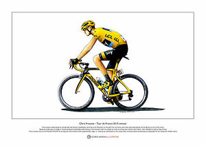 Chris Froome - Tour de France 2015 winner - Ltd Edition Fine Art Print A3 size