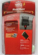 Monster Cable MusicShare Dual Headphone Adapter Splitter Mp3/Mp4 iPod iPhone