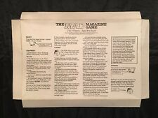 1979 MAD MAGAZINE BOARD GAME by Parker Brothers Replacement INSTRUCTIONS INSERT