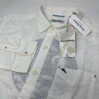 Tommy Bahama Men's Large Destination Breezer Tampa Linen Long Sleeve Shirt New