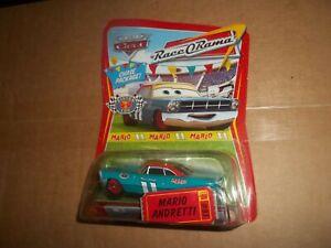 Disney Pixar Cars Mario #11 ticket #97 race o rama Chase Package Piston Cup