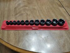 Snap-On12 -Piece Metric 1'' to 5/16'' Impact Socket Set 1/2'' drive
