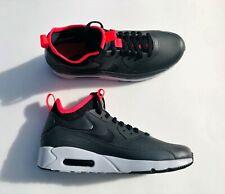 Nike Air Max 90 Ultra Mid Winter Black Solar Red Grey Black 924458-003  Men's 10