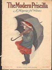AUG 1910 MODERN PRISCILLA vintage magazine - GREAT ADS