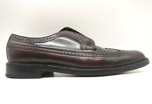 Florsheim Burgundy Leather Longwing Wingtip Lace Up Oxfords Shoes Men's 11 D