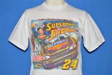 JEFF GORDON ADVENTURES OF SUPERMAN RACING NASCAR T-SHIRT YOUTH MEDIUM