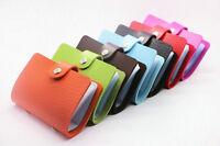 unisex PU Leather Pocket Business ID Credit Card Holder Case Wallet for 24 Card