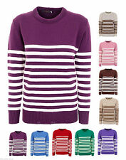 Unbranded Crew Neck Striped Jumpers & Cardigans for Women