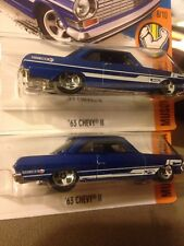 Hot Wheels Paint Tampo Error - 63 Chevy 2 - Lot of 2 - Chevrolet ll Ii