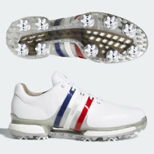 ADIDAS MEN'S TOUR 360 BOOST 2.0 GOLF SHOES US 9.5 M WHITE/BLUE/RED/SILVER 19499