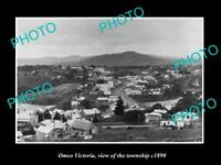 OLD LARGE HISTORIC PHOTO OF OMEO VICTORIA, VIEW OF THE TOWNSHIP c1890