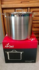 New All Clad 20 Quart Stainless Steel Stock Pot