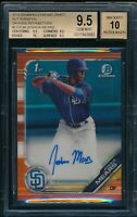 BGS 9.5/10 JOSHUA MEARS AUTO 2019 Bowman Chrome ORANGE REFRACTOR #/25 GEM MINT+