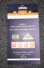 Köhler Auktion BALTICA Estonia Latvia Lithuania 1918 1941 Schrödinger Ergebnisse