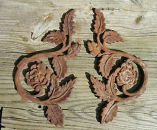 TWO Cast Iron ROSE CornersNew poured iron, not rusted