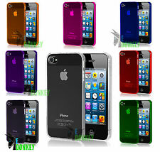 CUSTODIA CASE COVER PER APPLE IPHONE 5 5S TRASPARENTE RIGIDA SLIM